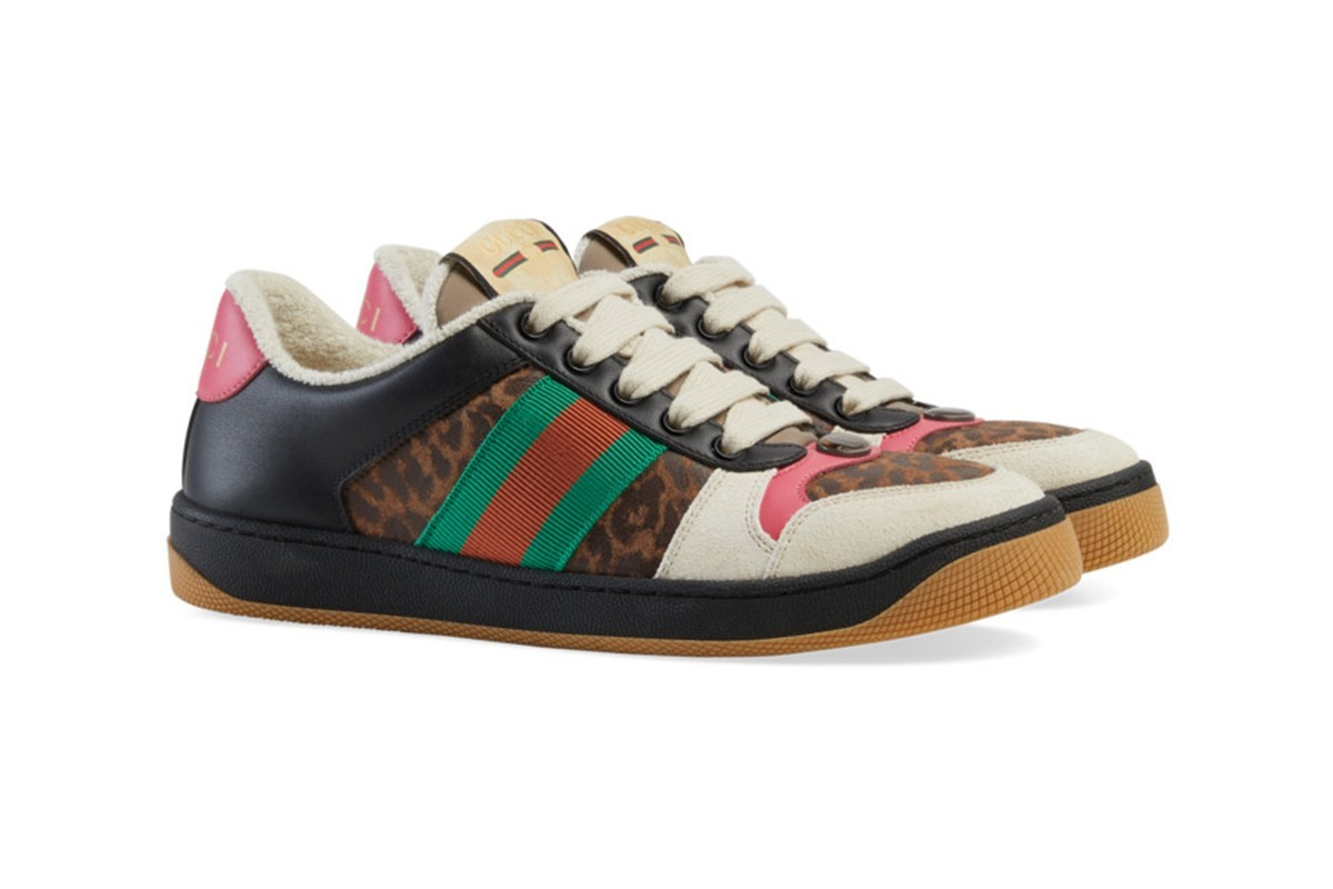 Photo of Gucci Drops an Online Exclusive 'Leopard' Screener Sneaker